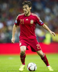 David Silva, durante as Eliminatórias para a EURO. (Foto: JMSA)